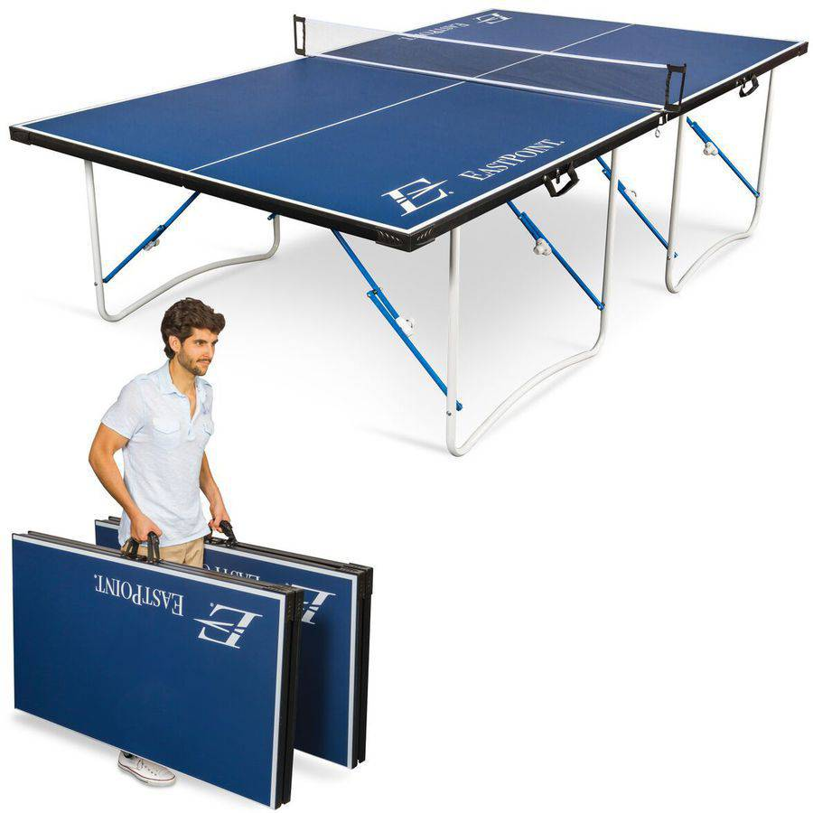EastPoint Fold 'N Store Table Tennis Table, 12mm