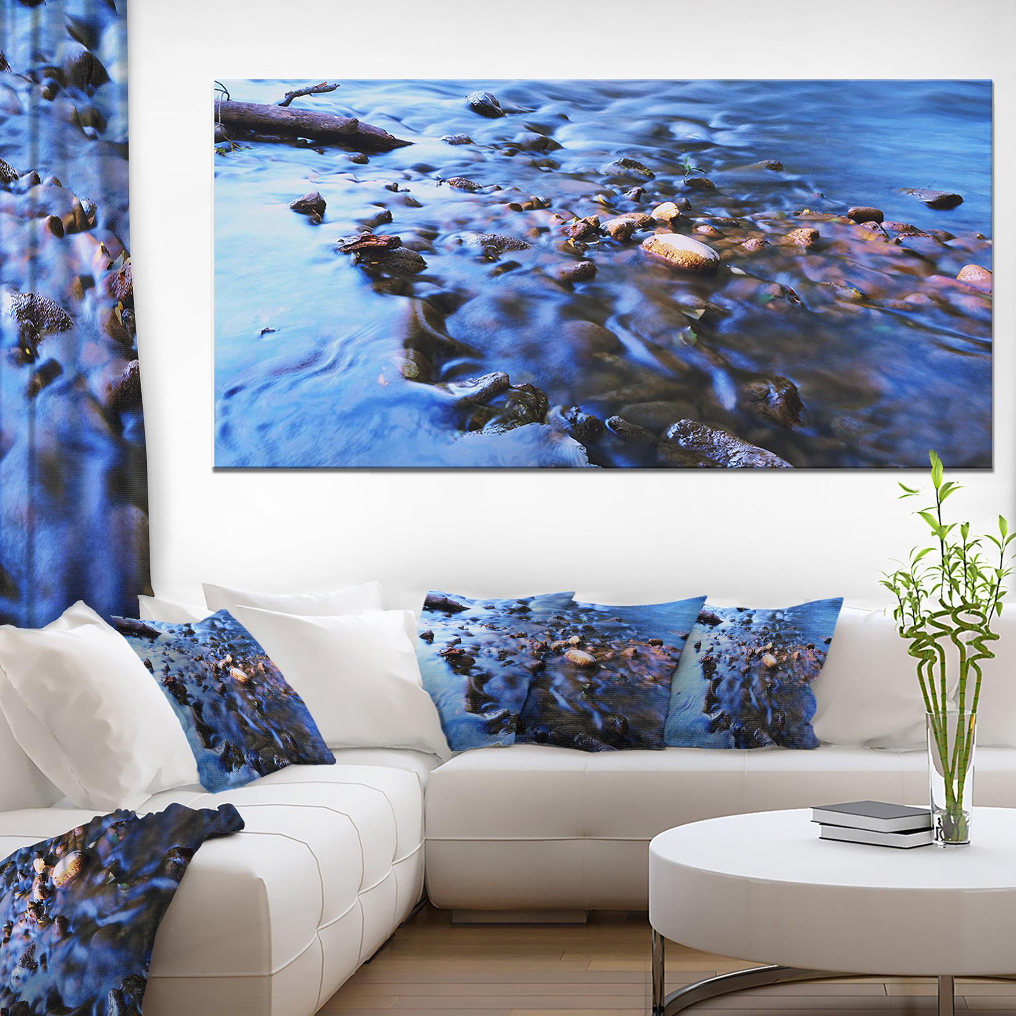 Rock Blue River Panorama Oversized Beach Canvas Artwork Walmart Canada