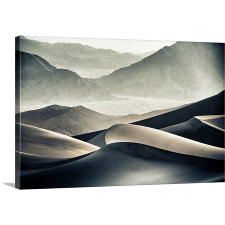 Great BIG Canvas | Scott Stulberg Premium Thick-Wrap Canvas entitled Mesquite Sand dunes in Death Valley National Park at sunrise ()