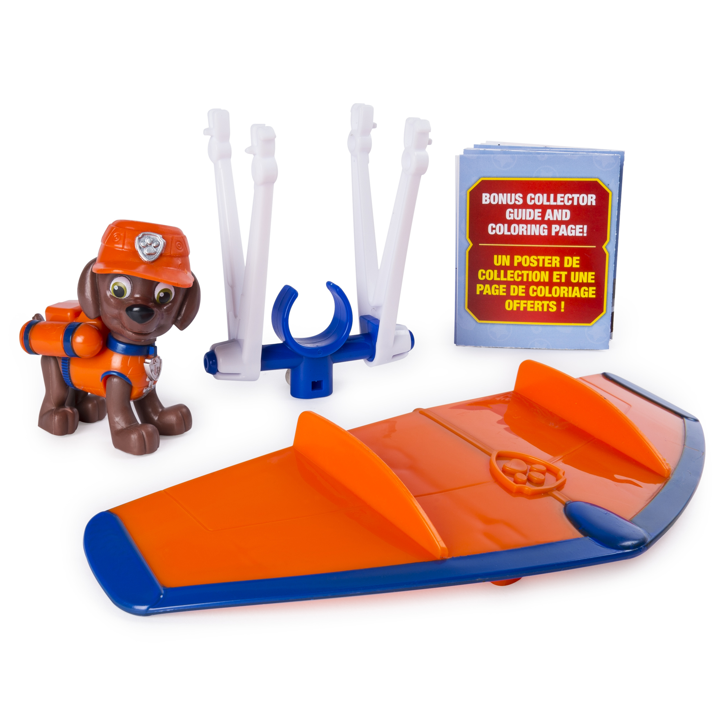 PAW Patrol Ultimate Rescue, Zuma's Mini Hang Glider with Collectible Figure for Ages 3 and Up