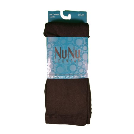 Plush Legging - 3 Pairs NuNu Leggings Black Opaque Queen Plush Lined Ladie Footless 1x2 x Winter
