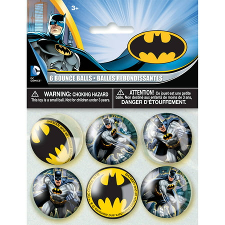 Batman Bouncy Ball Party Favors, 6ct - Batman Party Plates