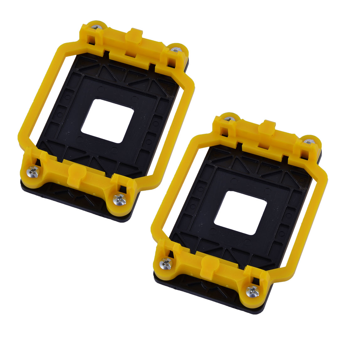 2pcs Plastic AM2 AM3 FM1 FM2 FM2+ Socket CPU Fan Heatsink Bracket Holder Yellow