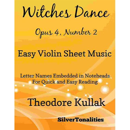 Witches Dance Opus 4 Number 2 Easy Violin Sheet Music - eBook