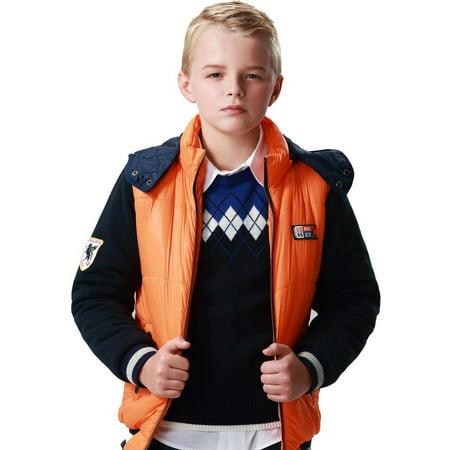 fa1668e18b64 Leo Lily Boys Winter Padded Puffer Jacket Outwear Coat W Fleece ...