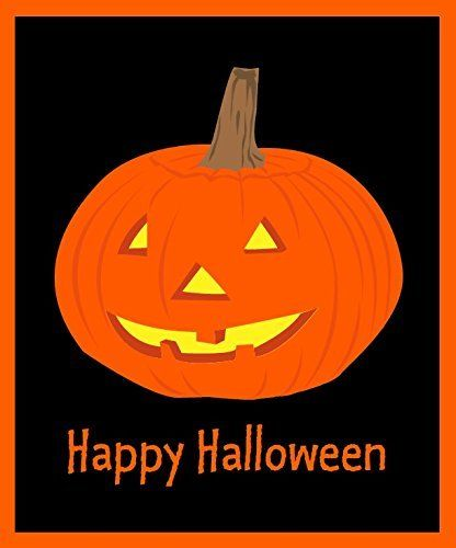 Happy Halloween Pumpkin Fleece Throw Blanket 50