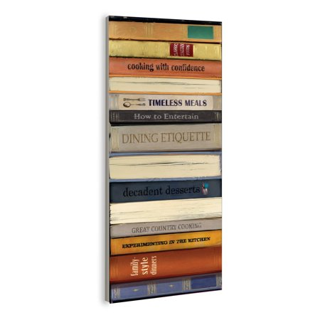 The Stupell Home Decor Collection Classic Cook Books Bindings Kitchen Wall Plaque