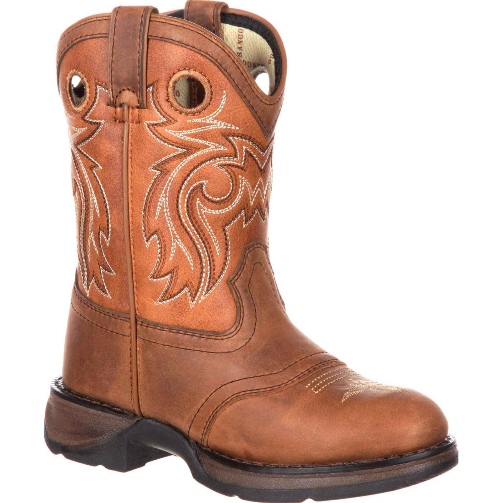 "Children's Durango Boot DBT0166 Lil' Rebel Big Kid 8"" Western Saddle Boot by Durango"