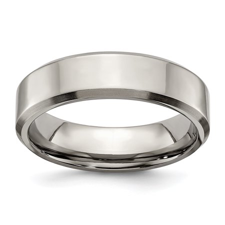 Titanium Beveled Edge 6mm Brushed Wedding Ring Band Size 9.00 Classic Flat W/edge Fashion Jewelry For Women Gifts For Her - image 10 of 10