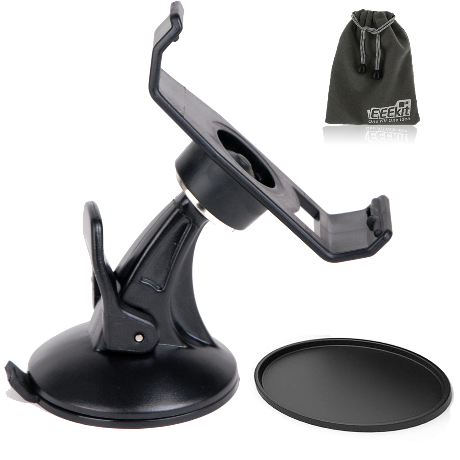 Car Mount Holder+Suction Cup Mount for Garmin Nuvi 200/205/250/255/260W 265T 265WT 270 275/465T GPS, EEEKit 2 in 1 Kit