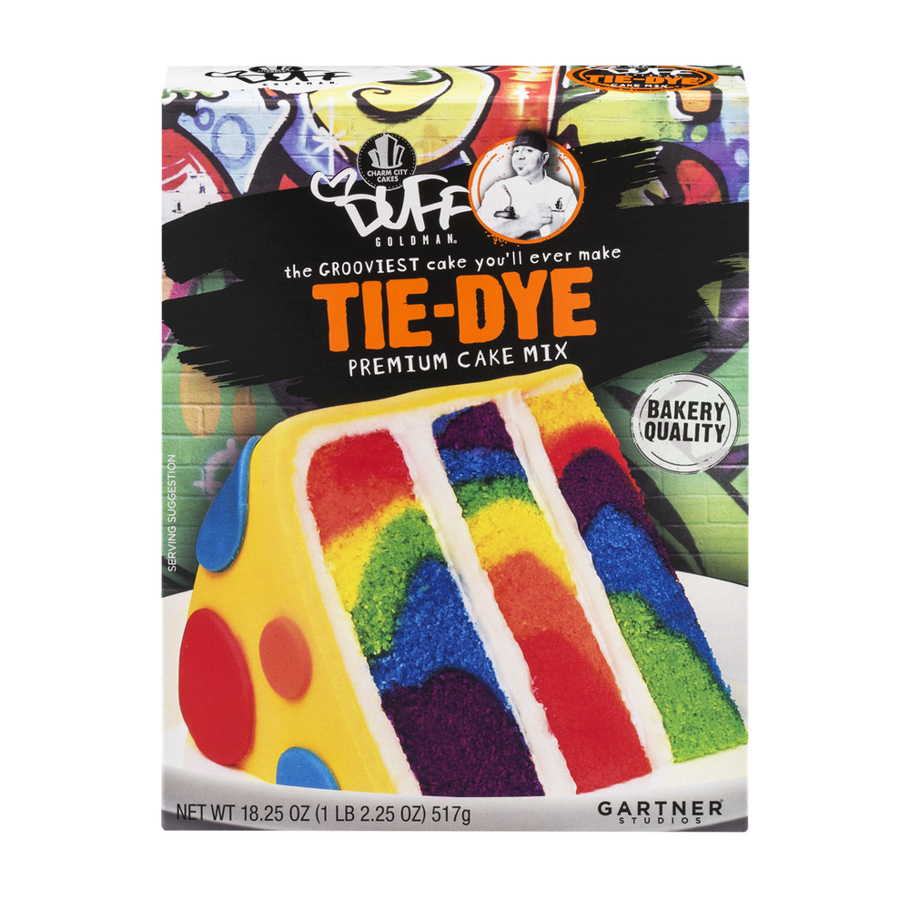Duff Goldman Tie-Dye Premium Cake Mix, 18.25 OZ by Gartner Studios, Inc.