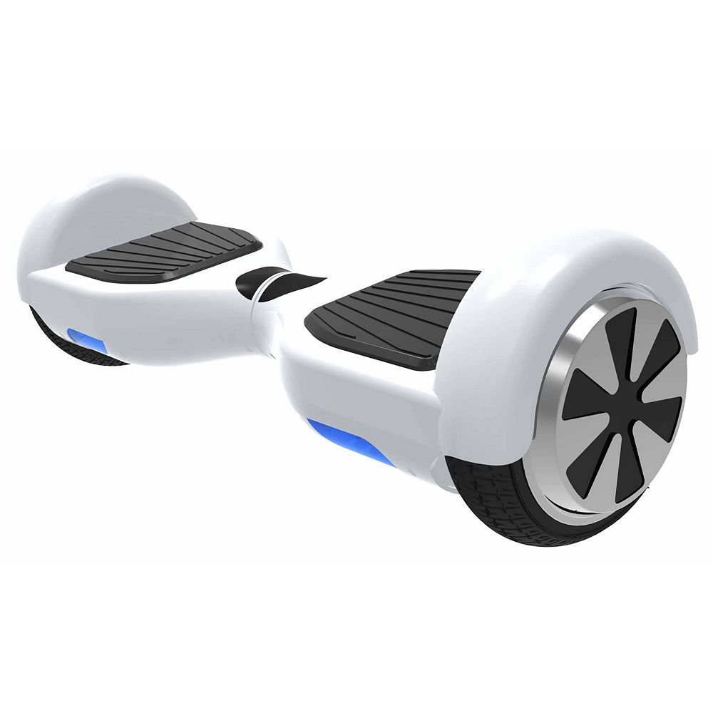 Hover 1 Ultra Electric Self Balancing Hoverboard with LED Lights and 4 Hour Battery Life, White