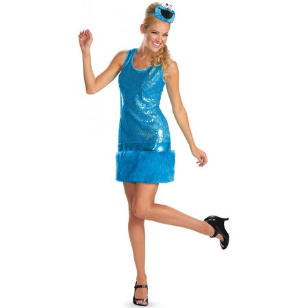 Cookie Monster Glam Adult Costume - Medium - Cookie Monster Halloween Costumes