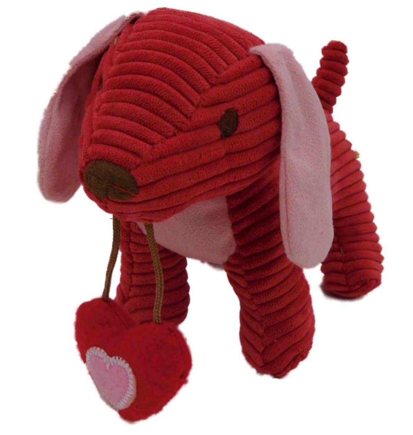 Animal Adventure Cord Ribbed Puppy Dog Stuffed Animal Red Pup Pal