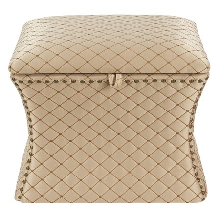Holly Concaved Storage Ottoman Brown - image 3 of 6