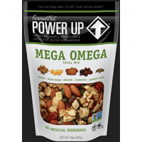 Power Up Mega Omega Trail Mix from Gourmet Nut, 14 oz. Resealable Bag, Gluten Free