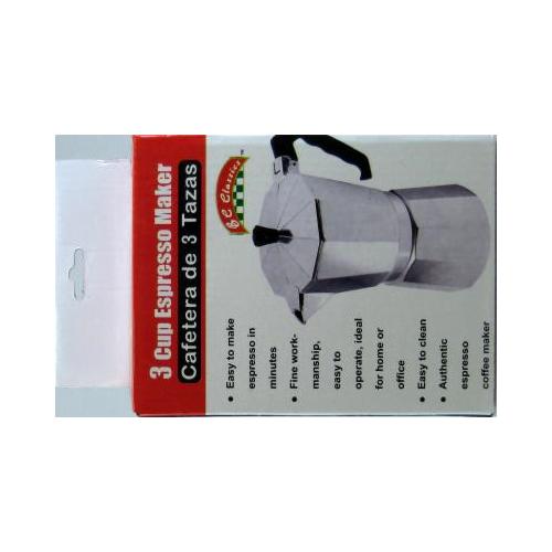 Bene Casa Espresso Maker 3 cups Aluminum by Bene Casa
