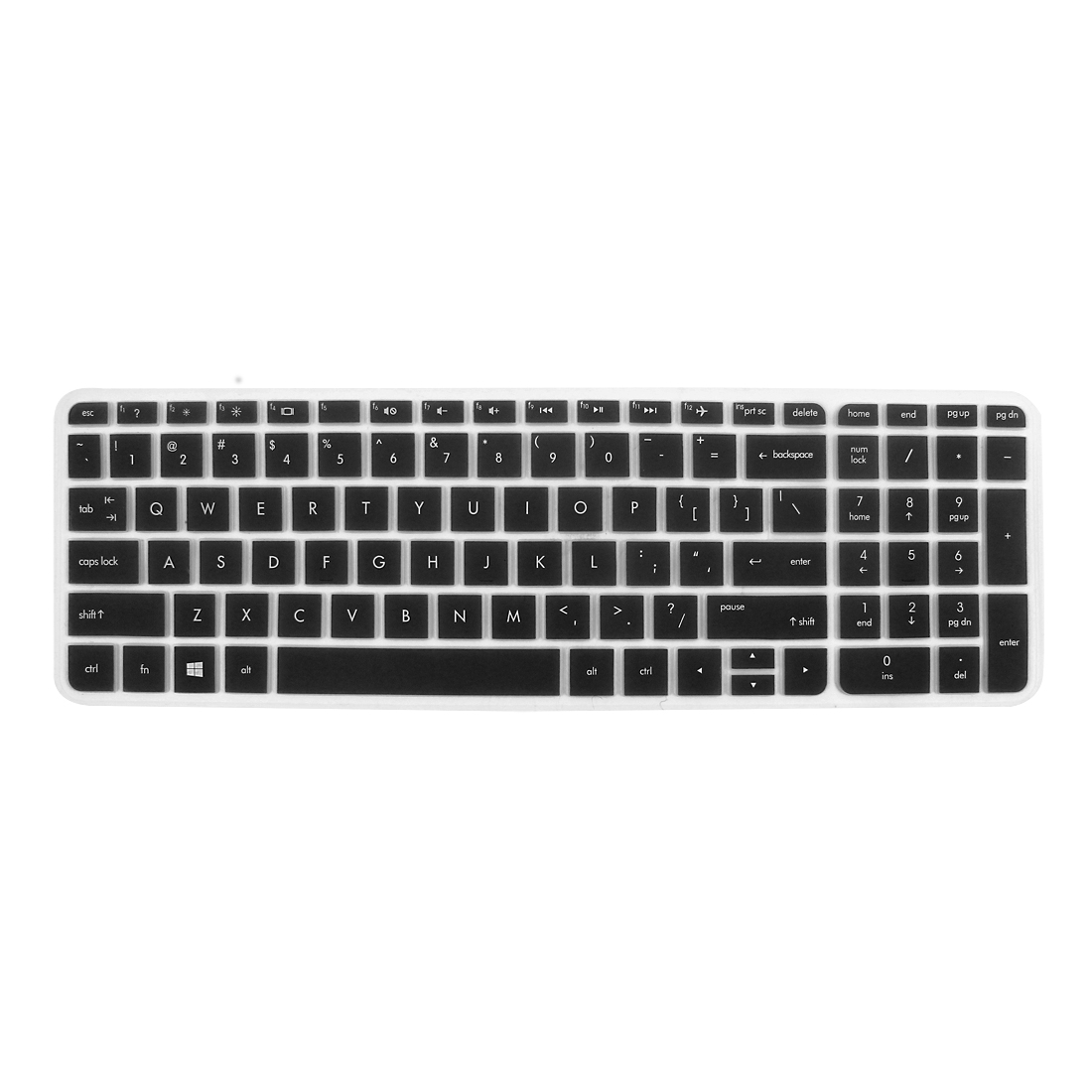 anti dust keyboard protector skin film cover black for hp