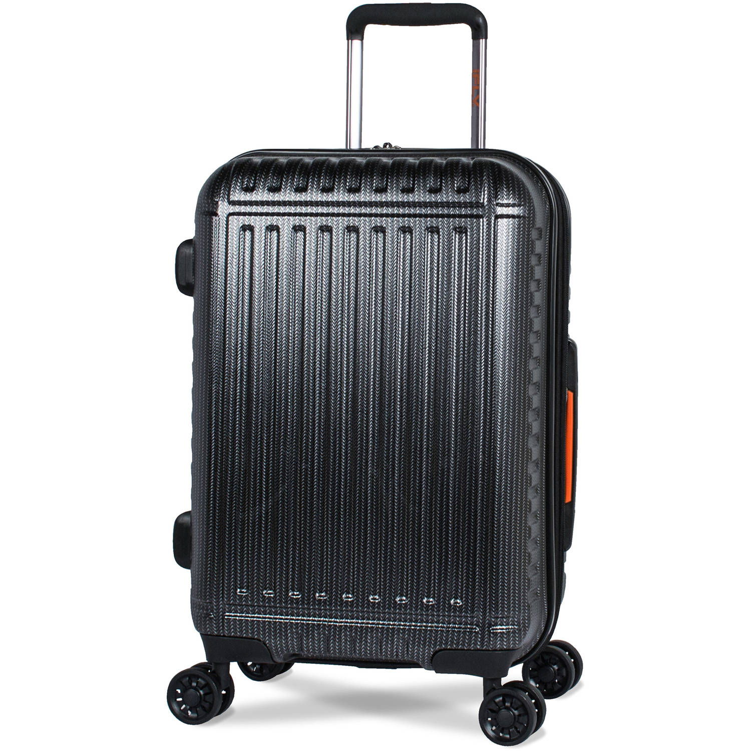 iFLY 20 Carry-On Hard-Sided Racer Luggage, Black