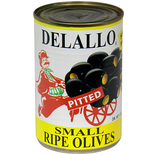 ***Discontinued*** Delallo pitted small ripe olives, 6 oz (pack of 12)