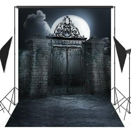 GreenDecor Polyster 5x7ft Halloween Horror Nights Moon Mysterious Door Costume Party Masquerade Series Photo Backdrops Studio Background Studio Props - Masquerade Backdrop