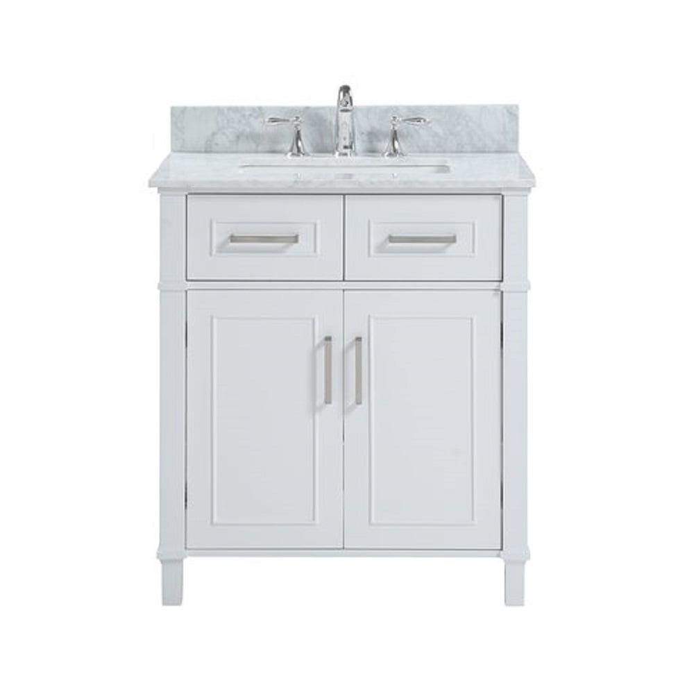 Belvedere Bath Isla 30 White, Bathroom Vanity Freestanding Sink