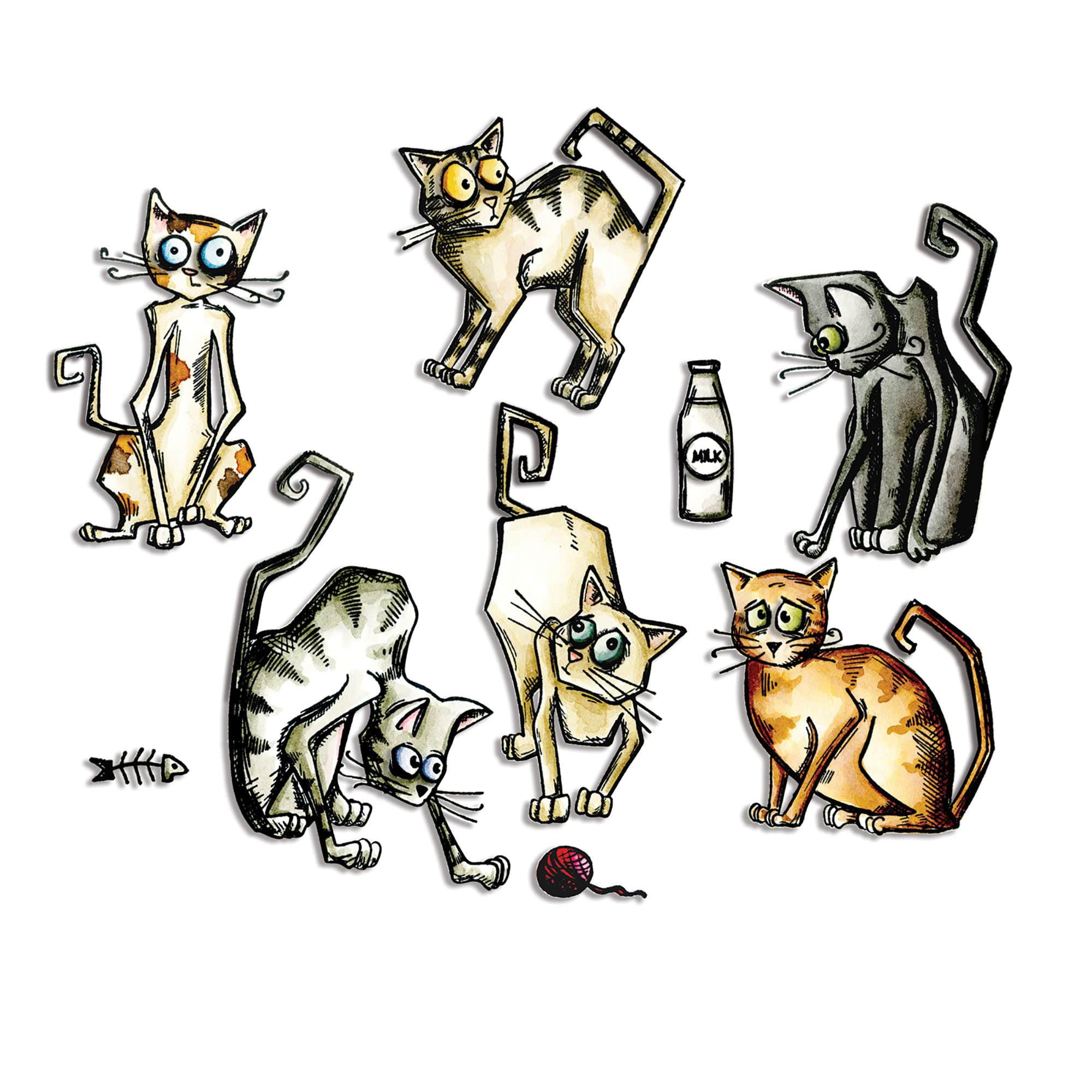 Sizzix Framelits Dies - Crazy Cats by Tim Holtz