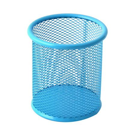 Office   Cylinder Shape Meshy Desk Decor Pencil Pen Holder Container - image 1 of 1