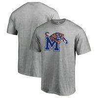 Memphis Tigers Fanatics Branded Primary Logo T-Shirt - Ash