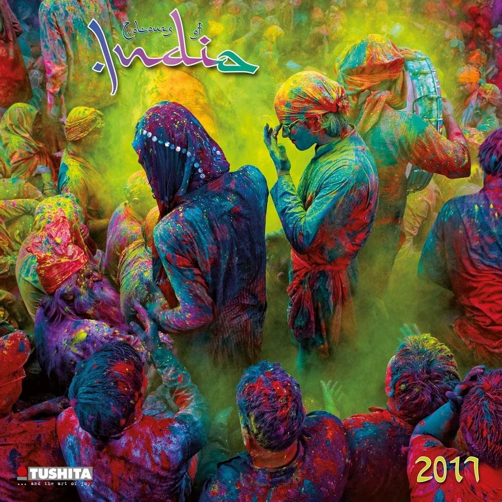 Colours of India Wall Calendar, 2017 Asia by Tushita Publishing ...
