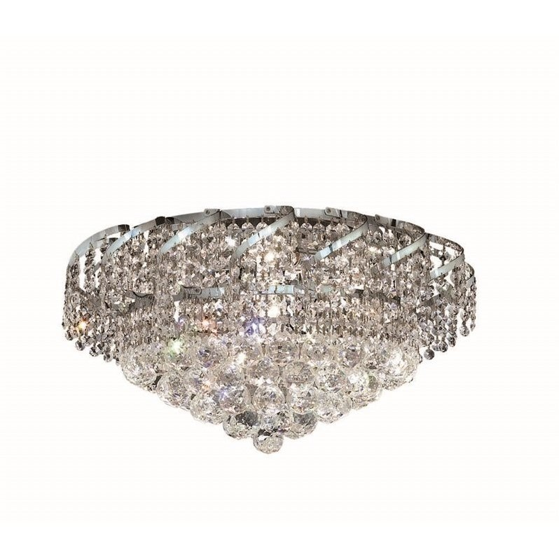 "Elegant Lighting Belenus 20"" 8 Light Elements Crystal Flush Mount"