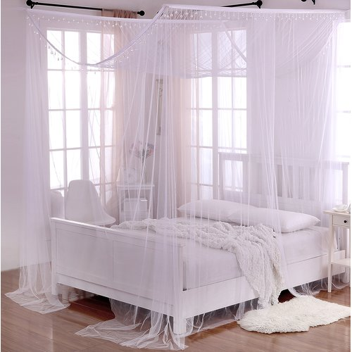 Willa Arlo Interiors Roldao Crystal Sheer Panel Bed Canopy