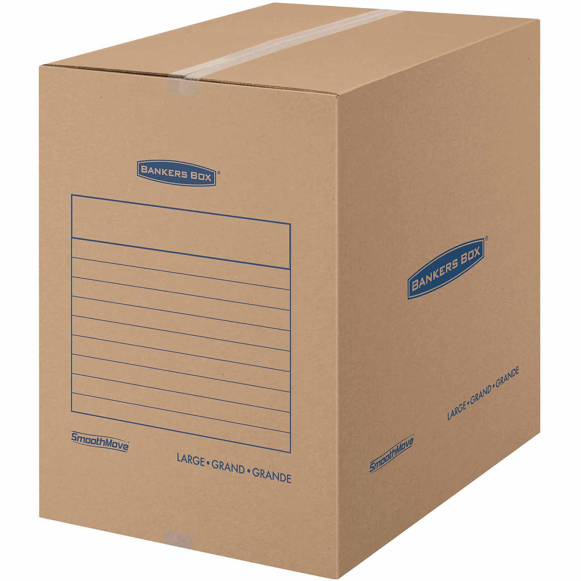 Bankers Box SmoothMove Basic Storage and Moving Box, Large, 7pk