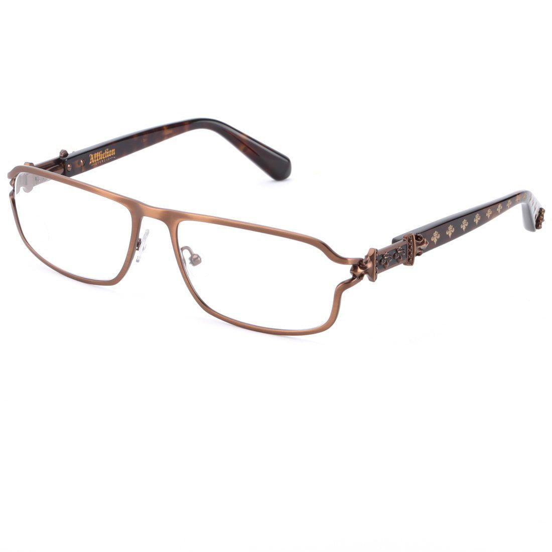 Image of Affliction MAXIMUS Designer Eyeglasses Tortoise/Ant Gold
