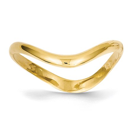 14k Yellow Gold Wave Fashion Thumb Ring (Gold Thumb Ring Ring)