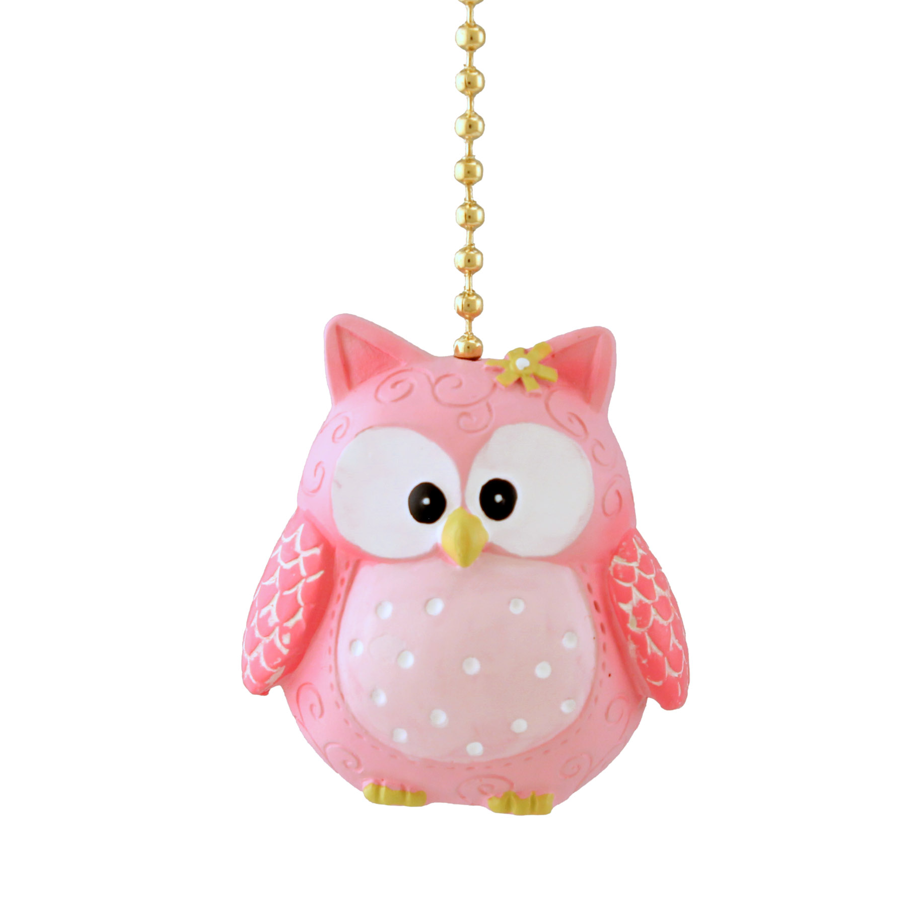 Clementine Design Pinky Owl Resin Ceiling Fan Pull
