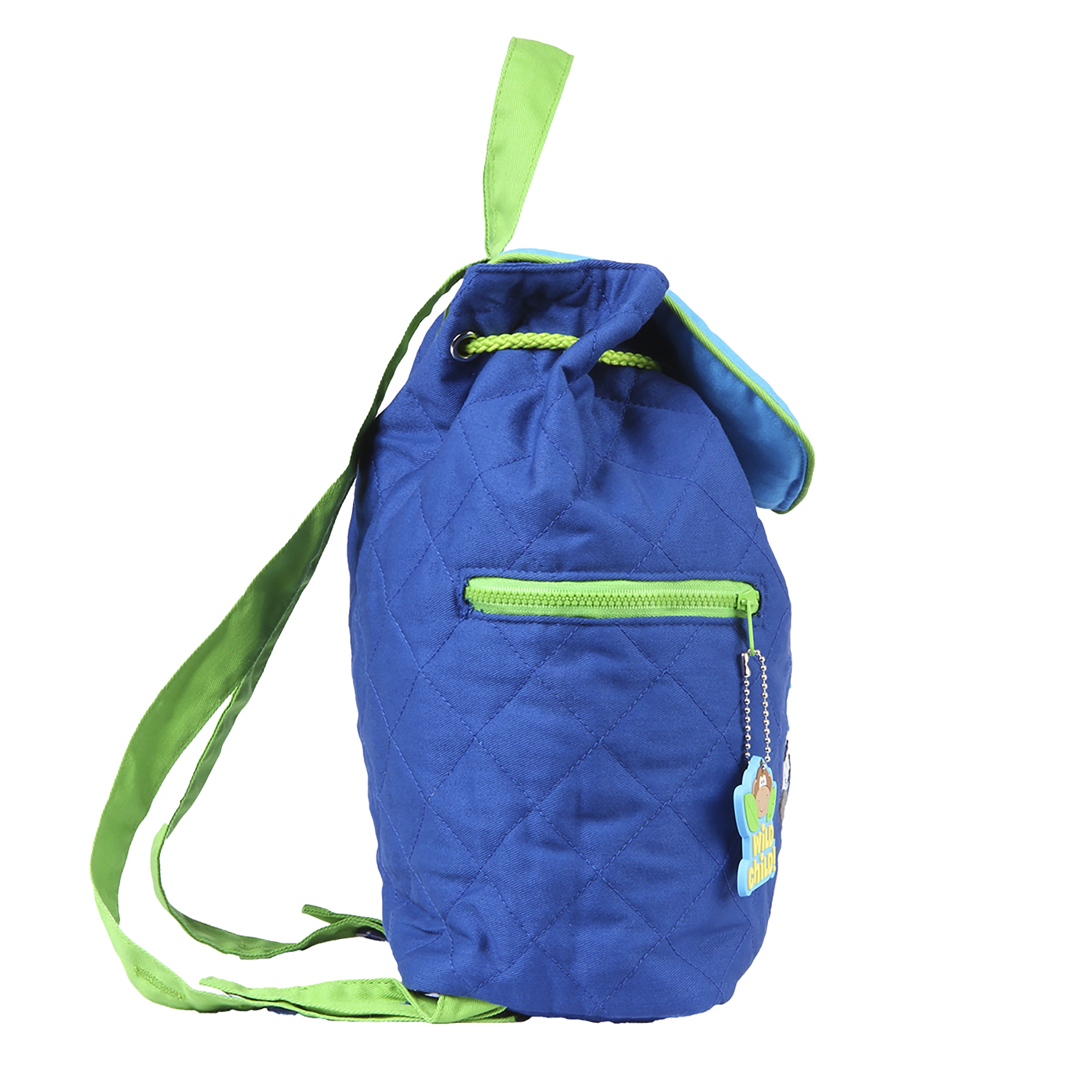 ready to ship Quilted Backpack for Toddler Drawstring Closure Bright Airplanes