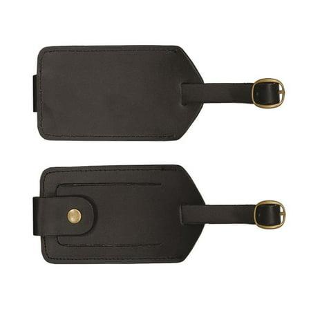 Debco BL1991 -tiquette de bagage en cuir reconstitu- de 4,5 x 2,5 po - Noir - Paquet de 12 - image 1 de 1