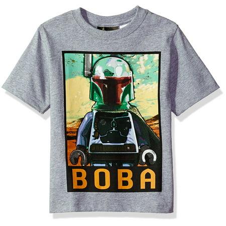 Lego Star Wars Boys' Boba T-Shirt Light Gray - Boba Fett Items