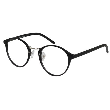 Eye Glasses Men Women RX Unique Horn Rim Antique Style Preppy Circular Lenses - Horned Rimmed Glasses