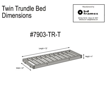 KD Frames Twin Trundle Unit - Walmart.com