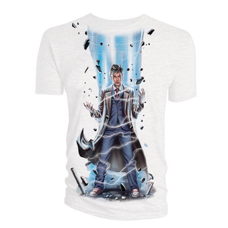 Doctor Who Classic Womens T-Shirt 10Th Doctor - Womens Laser