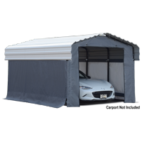 Arrow 10' x 15' Enclosure Kit for Carport, Grey