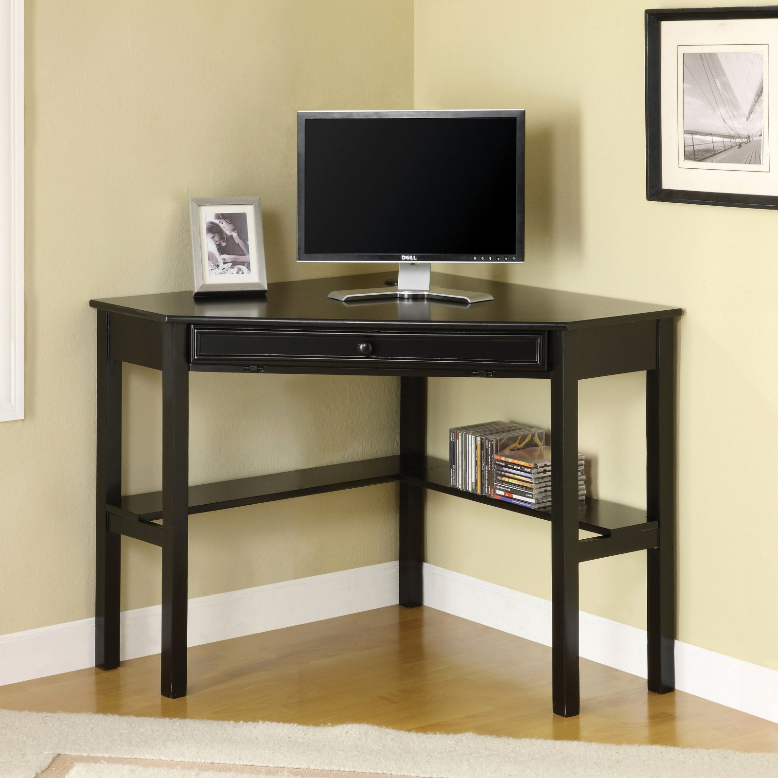 Furniture Of America Romy Solid Wood Corner Office Table