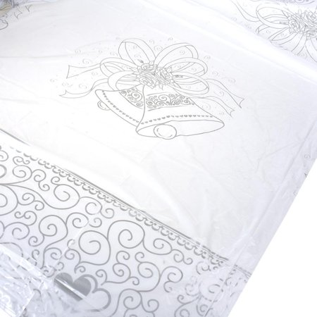 Wedding Bell Imprinted Tablecover, 72-1/4-Inch