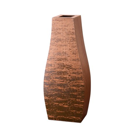 "Villacera Mango Wood 24"" Bottle Floor Vase 