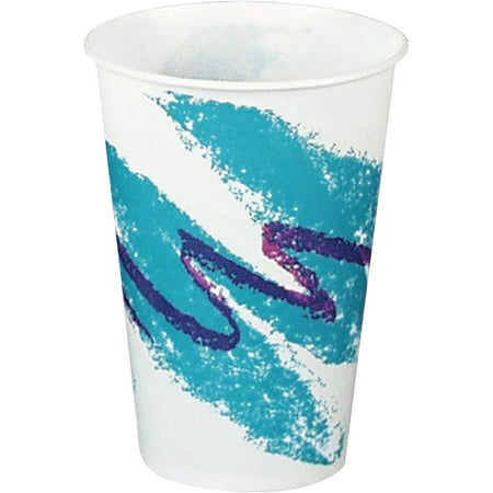 Solo Cup Lights (Solo, SCCR7NJZ, Jazz Design Waxed Paper Cold Cups, 100 / Pack,)
