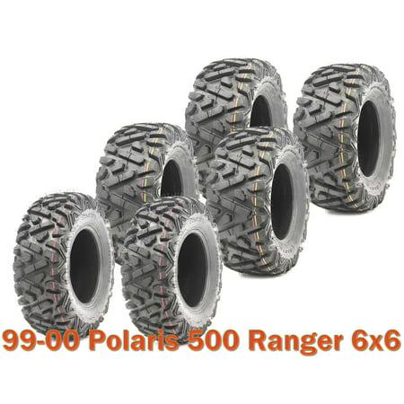 6 WANDA ATV tires (2) 25x10-12 & (4) 25x11-10 for 99-00 Polaris 500 Ranger (Polaris 500 Atv)