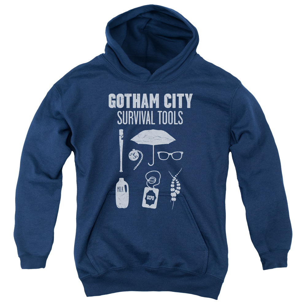 Batman Gotham Survival Tools Big Boys Pullover Hoodie