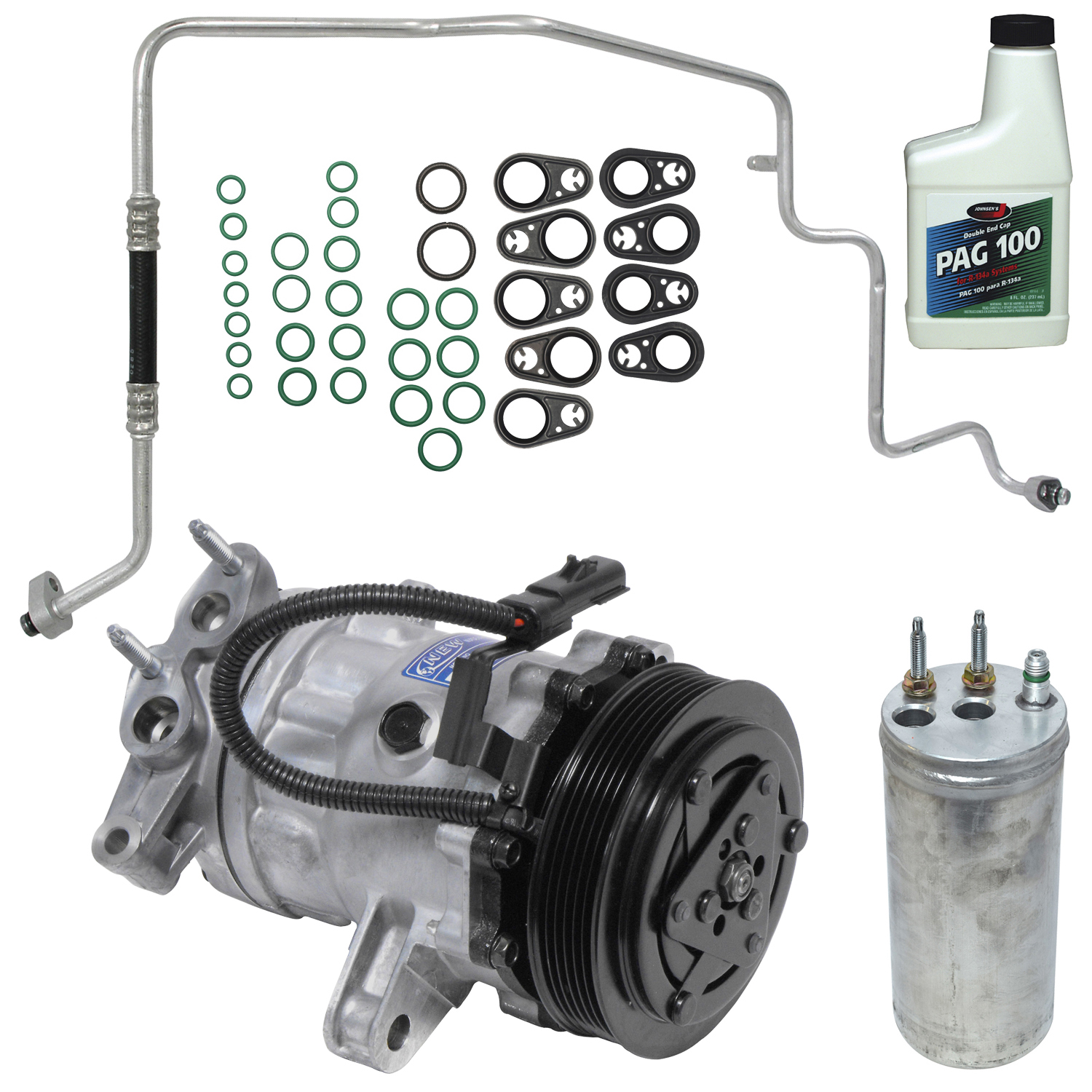 New A/C Compressor Kit KT 4174 - 55037466 Liberty